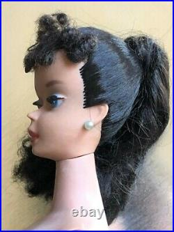 Original # 3 Ponytail Brunette Vintage Barbie UNFADED No Touch Ups