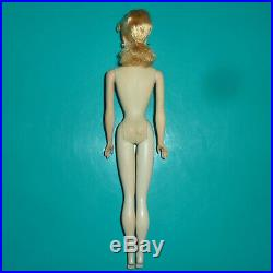 Original Vintage 1959 #2 Ponytail Barbie W Tm Stand From #1 Two-pronged Stand