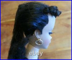 Original Vintage Number 1 Ponytail Barbie withstand. Brunette 1959 Japan foot mk