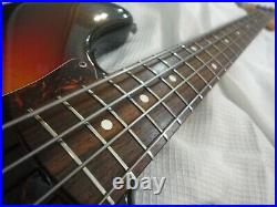 RARE 1980's vintage Fernandes The Revival PB62 Precision bass guitar sunburst