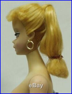 RARE Barbie Doll ONE 1959 BARBIE #1 ORIG VINTAGE BLOND PONYTAIL #850 NICE