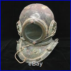 RARE Japanese Antique Diving Helmet TOA Bronze Vintage Deep Sea Scuba SENSUIGU