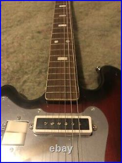 RARE VINTAGE KENT 1960s ELECTRIC LEFTY GUITAR made in Japan Red wood