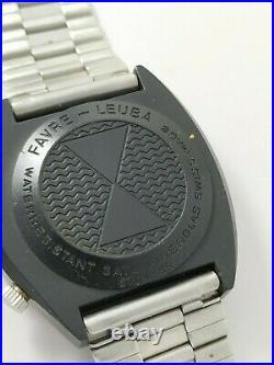 Rare Collectible Vintage Favre-Leuba Moon Raider Space Watch, ca 1970's Workin