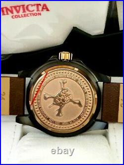Rare Invicta 48mm Disney Pirates of The Caribbean Limited Ed. Skull Auto Watch