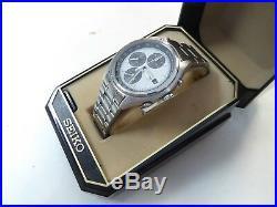 Rare Seiko Panda 7T32-7C60 Chronograph tachymeter In Near Mint Cond Original Box