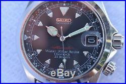Rare Seiko Red Alpinist SCVF005 Black Dial Automatic 4S15-6000 Hi-Beat Dec. 1996