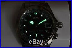 Rare Seiko Red Alpinist SCVF005 Black Dial Automatic 4S15-6000 Hi-Beat Dec. 1998