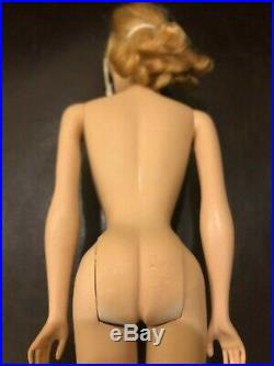 Rare Vintage 1959 #1 Original Barbie Doll With Swimsuit And Sunglasses