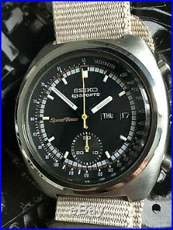 Rare Vintage 1971 Jdm Seiko 6139-7012 Speed-timer 21j. Automatic Chronograph