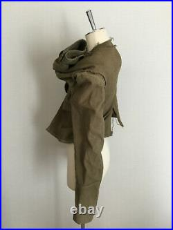 Rare Vintage AD2003 Comme des garcons asymmetrical military Jacket