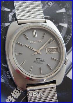 Rare Vintage Citizen Leopard Super Beat 8 Cal. 7710 Automatic 24 Jewels Watch