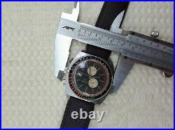 Running Sicura Chrono By Breitling Black Dial Mens Watch Date Vintage Rare