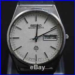 SEIKO Quartz Watch/ GRAND TWIN QUARTZ 9943-8030 SS 1978 new Battry Works good