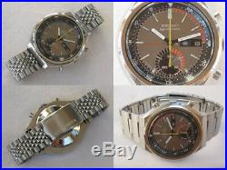 Seiko 5 Sports 6139-7060 Chronograph Speed Timer Automatic Mens Auth Watch F/S