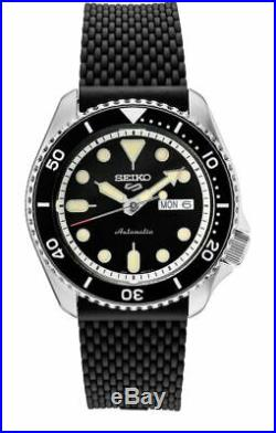 Seiko 5 Sports SRPD95 Men's Automatic Silicone Strap Watch NEW