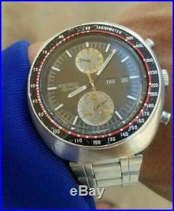 Seiko 6138-0011 UFO Chronograph Automatic Speed Timer Watch Vintage RARE Working