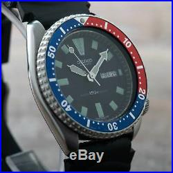 Seiko 6309-729A Pepsi Divers Watch Men Vintage Serviced 150M Automatic #2626