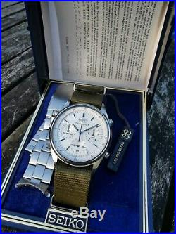 Seiko 7a28 7020 James Bond Vintage Men's Flyback Chronograph Watch