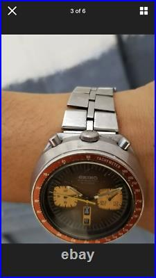 Seiko Bullhead Chronograph Automatic 6138-0040 Vintage Watch