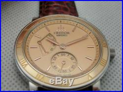 Seiko Credor 4S79-0020 Pink Gold Manual Hand Wind Authentic Mens Watch Works