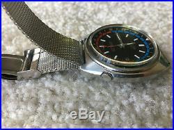 Seiko Navigator Timer 6117-6410-Vintage Stainless Steel-Japan-GMT Automatic-Mesh