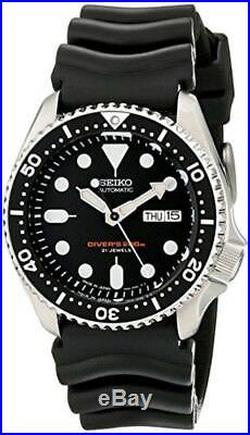 Seiko SKX007J1 Analog Japanese-Automatic Black Rubber Diver's Watch F/S