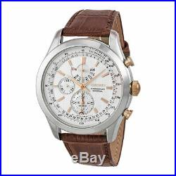 Seiko SPC129 Chronograph Perpetual Calendar Alarm Brown Calf Leather Men's Watch