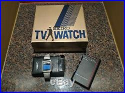 Seiko TV Television Watch James Bond Octopussy In Original Box Amazing Condition