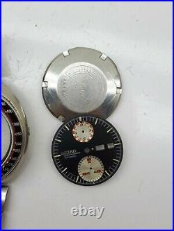 Seiko Ufo 6138-0011 Speedtimer Auto Wrist Watch Japan Dial For Restore Or Parts