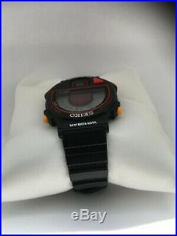 Seiko Vintage Extremely Rare S240-400C Pulsemeter Unisex 1980-1989 Digital Watch