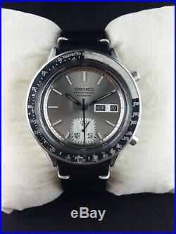 Seiko chronograph 6139-6041 automatic men Japan working wrist watch rare