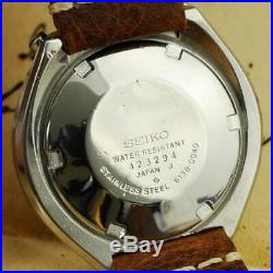 Serviced Large Seiko 6138-0040 Bullhead Chronograph Automatic Quickset Day Date