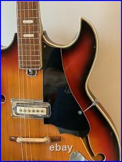 Teisco Vintage Telestar Hollowbody Electric Guitar Made In Japan