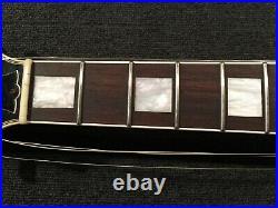 Used Burny / Fernandes RLC-60 MIJ Vintage Les Paul Custom Black WithGB FreeShip