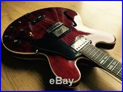 VINTAGE 1970's GRECO ES-335 HOLLOW BODY SA-550 PERSIMMON RED MIJ JAPAN
