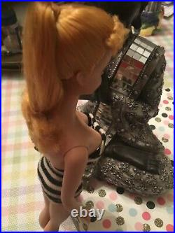 VINTAGE #4 BLOND GORGEOUS Ponytail Barbie TM Doll1/2 Box PUMPS JAPAN