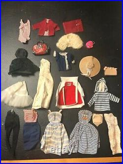 VINTAGE # NUMBER 4 BARBIE BLONDE PONYTAIL 1959 ORIGINAL SWIMSUIT and Outfits
