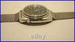 VINTAGE SEIKO AUTOMATIC NAVIGATOR TIMER 6117-6419 Stainless Steel Running Watch