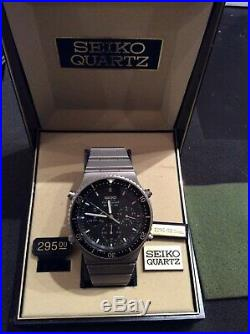 VINTAGE SEIKO SPR017 SPORTS 100 CHRONOGRAPH 7A28-7049, Brand New FROM THE 1980s