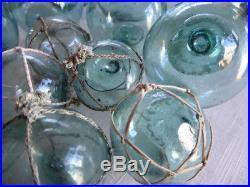 VTG Japanese Glass Fishing Float Variety Box for Sellers & Dealers, Lot of 33