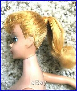 Very Beautiful Vintage Lemon Blonde Barbie Ponytail NM