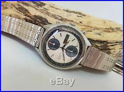 Very Rare Seiko Panda Chronograph 6138 Japan Automatic Man's Watch