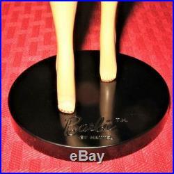 Vintage #1 Ponytail Barbie Old Black 2 Prong Pedestal Stand Original Japan Rare