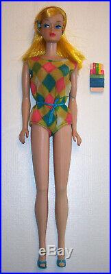 Vintage #1150 Golden Blonde COLOR MAGIC Barbie Doll BL 1966-1967 OSS Ribbons