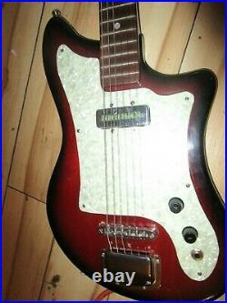 Vintage 1960's Mij Kingston One Pickup Electric Guitar