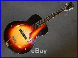 Vintage 1960's Weiss Archtop Acoustic Guitar Parlor Model (Model # P-100) JAPAN