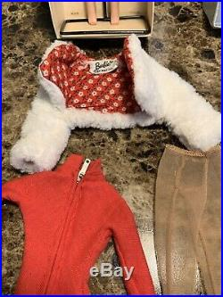 Vintage 1962 Red Hair Midge Barbie Doll Freckles Japan With BoxStand, Clothes