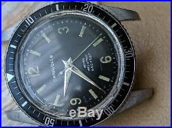 Vintage 1969 Bulova Caravelle 666 Feet Divers Watch withAll SS Case, Runs Strong