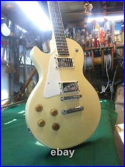 Vintage 1970's (LEFTY) Ibanez Cortez Japan Les Paul Custom Electric Guitar Ivory